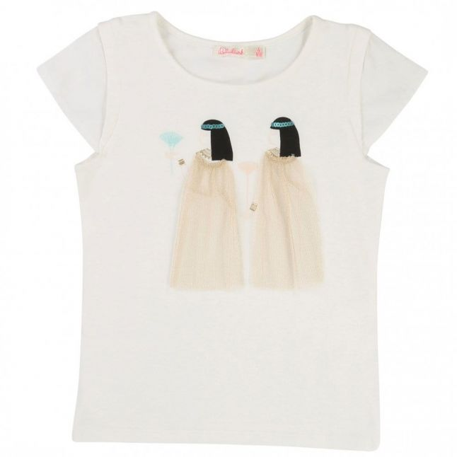 Girls White Cleopatra S/s Tee Shirt
