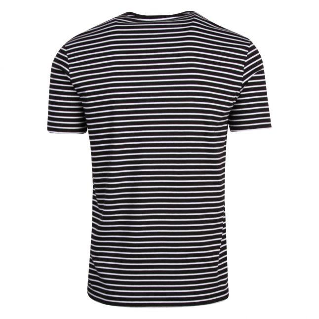 Mens Navy Eagle Stripe S/s T Shirt