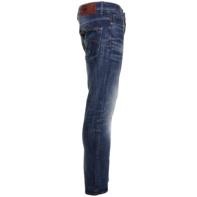 Mens Dark Aged Antic Wash 3301 Slim Fit Jeans
