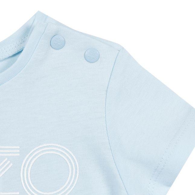 Toddler Light Blue Logo S/s T Shirt