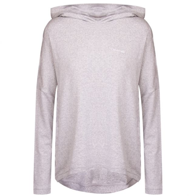 Womens Grey Heather Cotton Luxe Hoodie