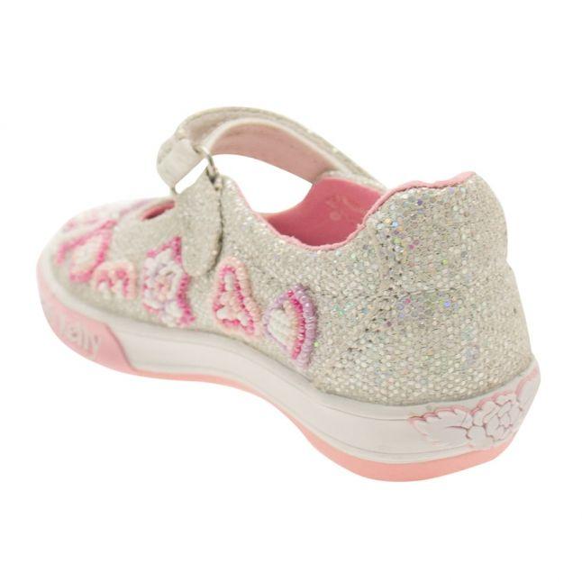 Girls Argento Glitter Shining Star Shoe (25-33)