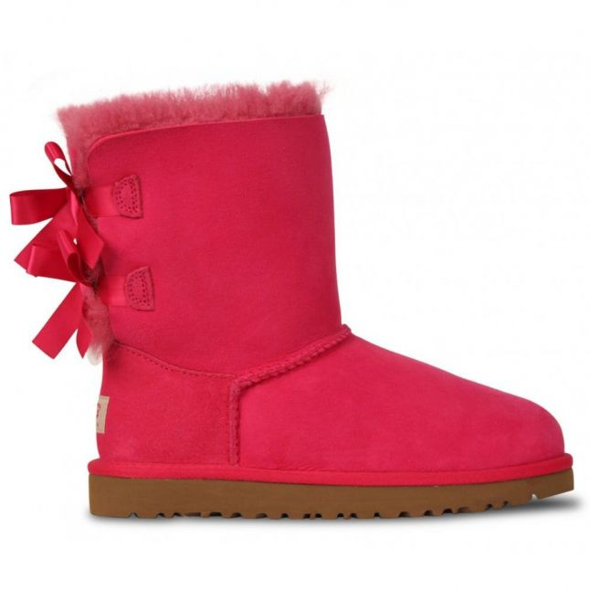 Youth Girls Cerise Bailey Bow Boots (4-5)