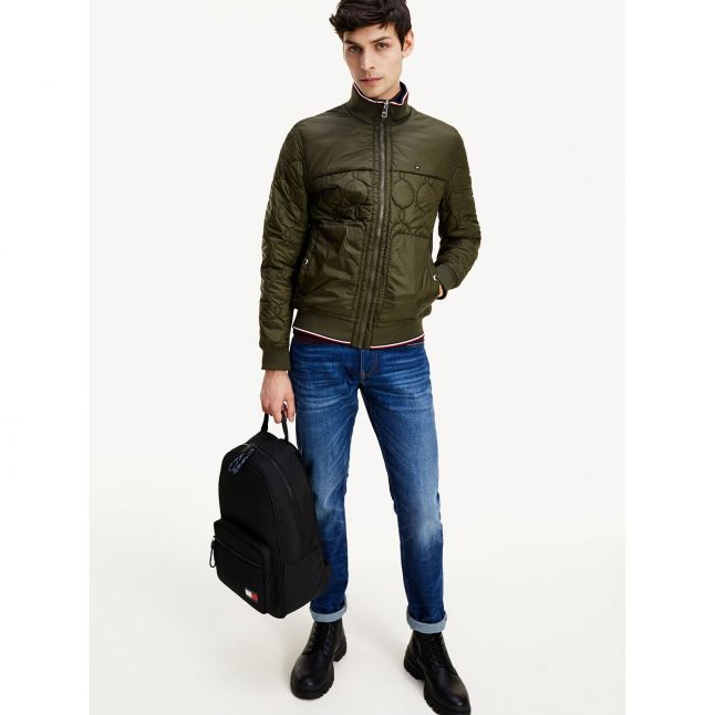 Tommy Hilfiger Mens Camo Green Reversible Quilted Jacket