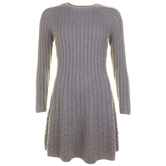 Womens Medium Grey Wedenas Knitted Dress