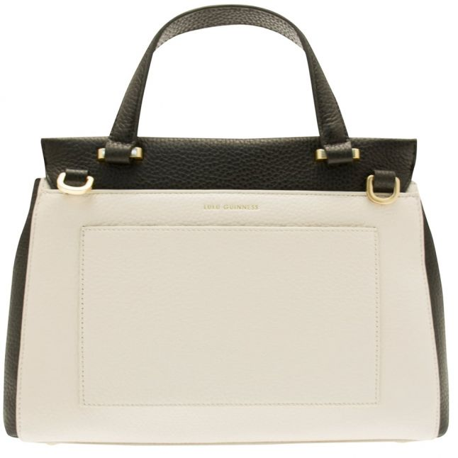 Womens Black & Porcelain Colour Block Small Gertie Bag
