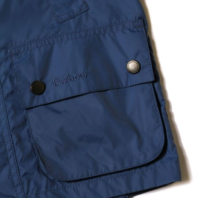 Boys Indigo Hooded Bedale Jacket
