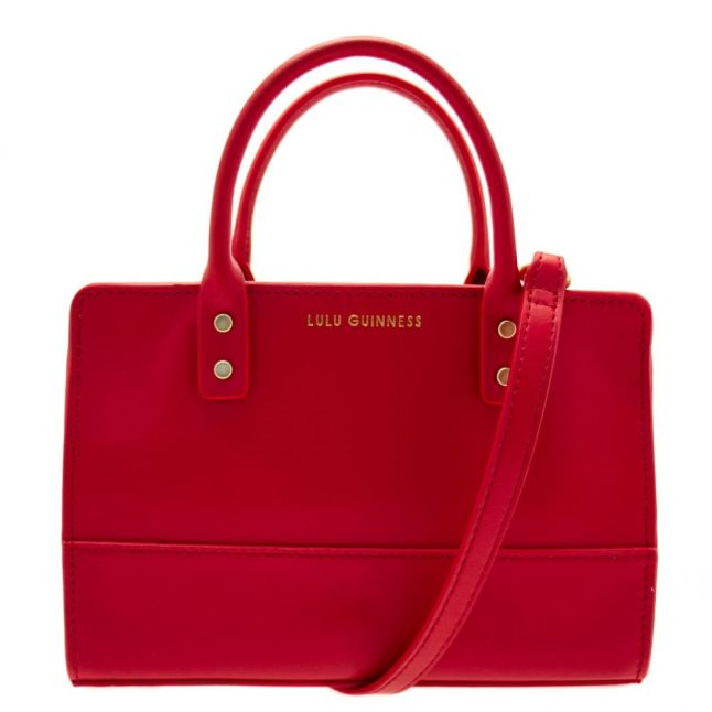 Womens Red Polished Leather Mini Daphne Bag