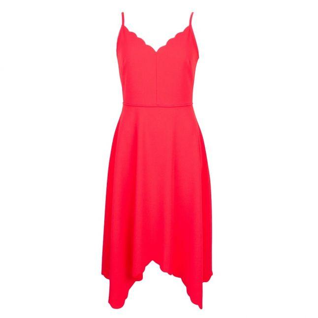 Womens Mid Orange Simbah Scallop Dress