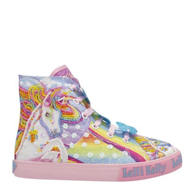 Girls Multicoloured Unicorn Mid Length Boots (26-35)