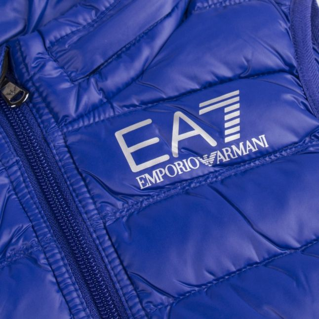 Boys Royal Blue Branded Padded Gilet