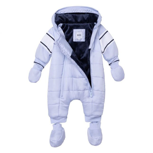 Baby Pale Blue Branded Snowsuit