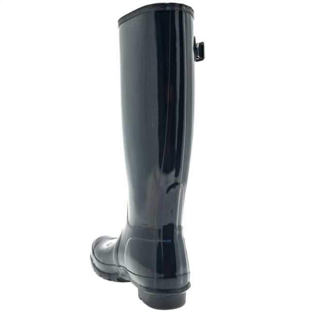 Womens Navy Original Gloss Tall Wellington Boots