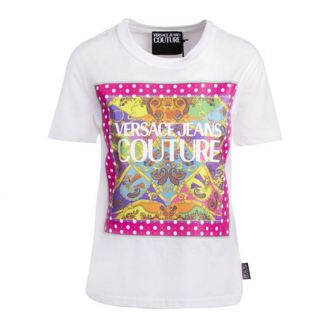 Womens White Paisley Belt Print S/s T Shirt
