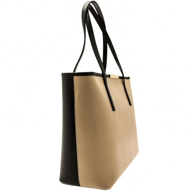 Womens Camel Kaci Metal Bar Large Shopper Bag & Purse