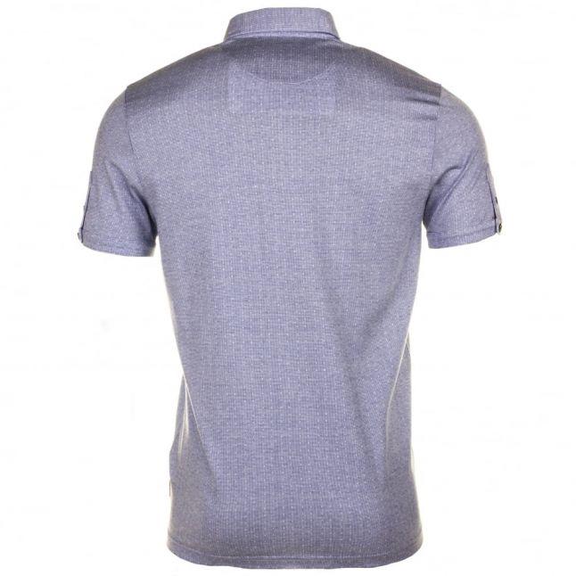 Mens Light Blue Tomaso Jacquard Spot S/s Polo Shirt