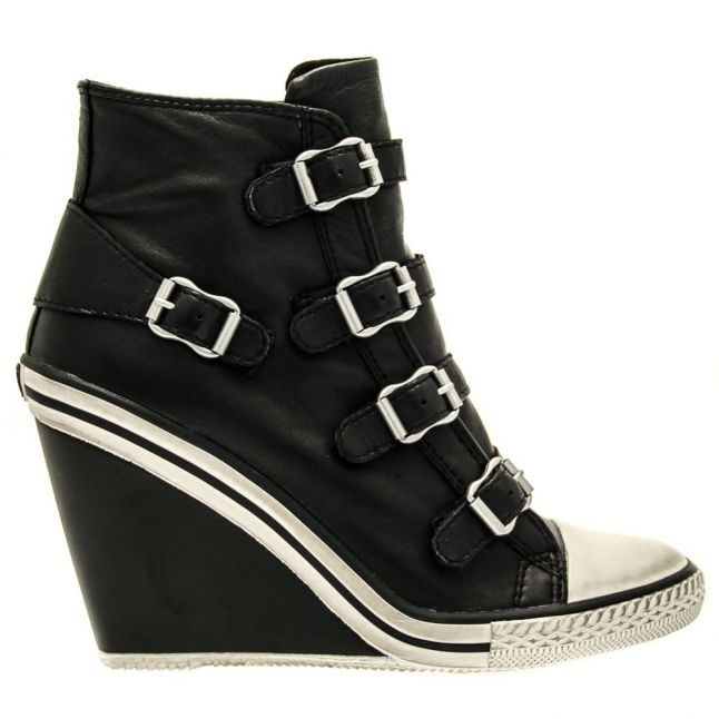 Womens Black Thelma Wedge Trainers