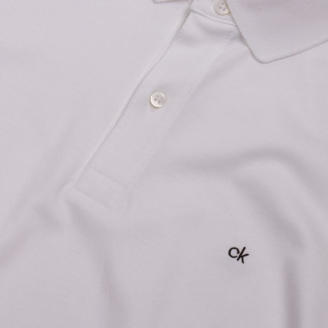 Mens White Soft Interlock Slim Fit S/s Polo Shirt