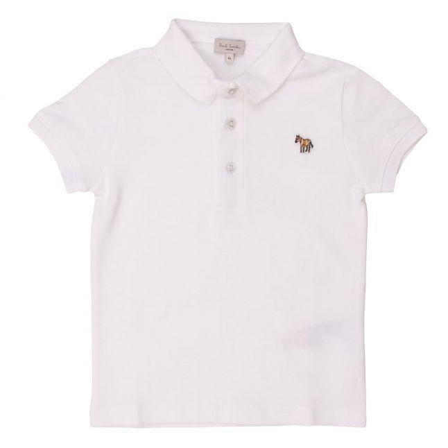Boys White Ridley S/s Polo Shirt