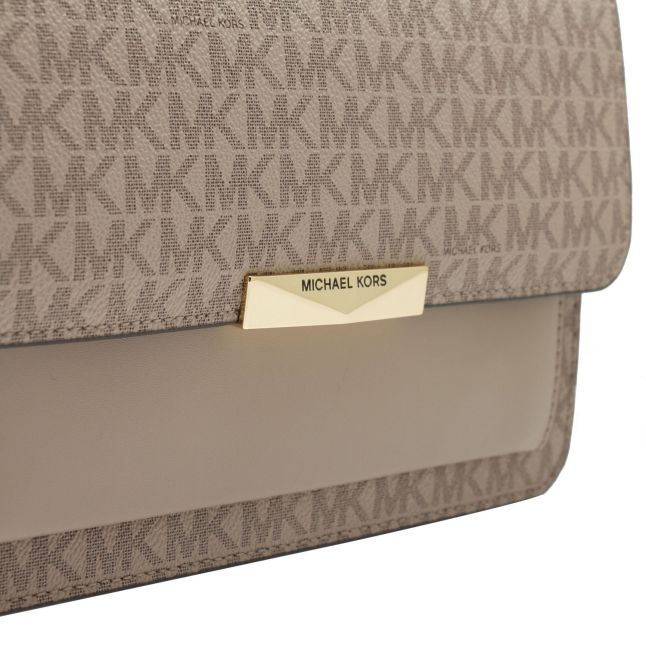 Michael Kors Womens Truffle Signature Jade Shoulder Bag