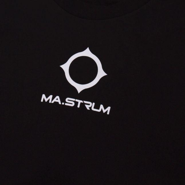 Mens Jet Black Archive Logo Print S/s T Shirt