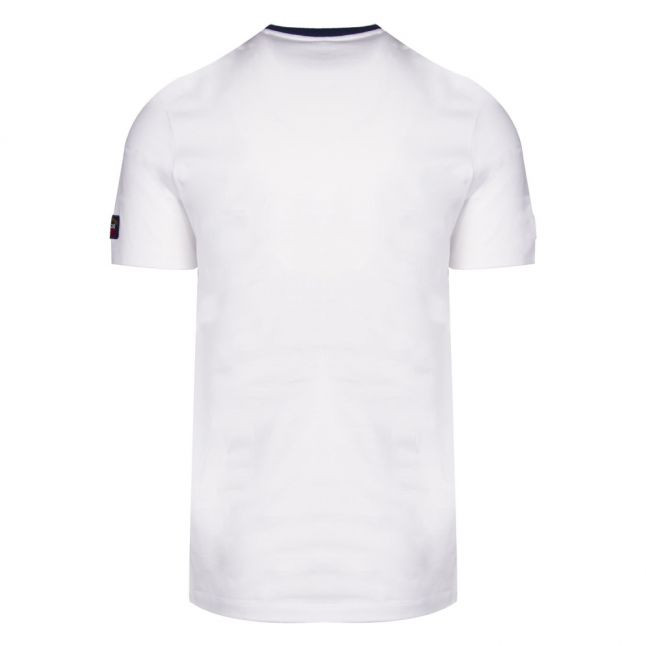 Mens White Tri Colour Logo Custom Fit S/s T Shirt