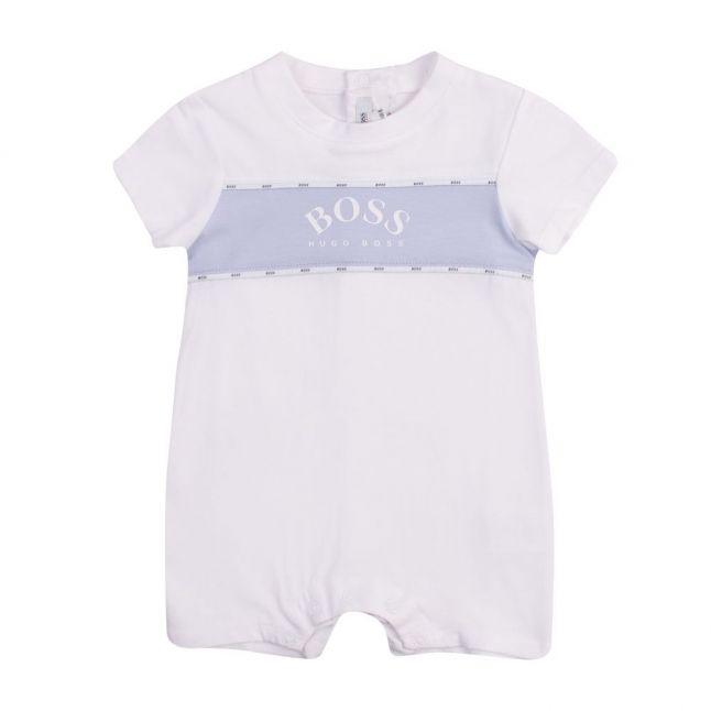 Baby White Logo Tape S/s Romper