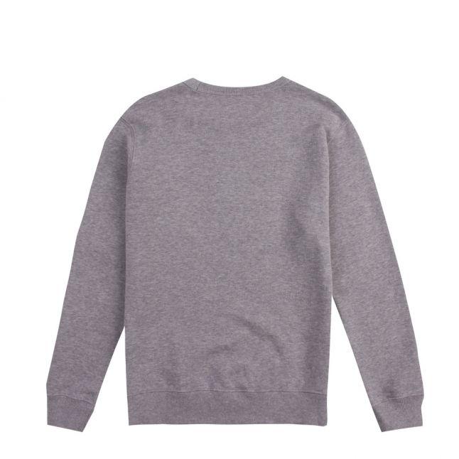 Boys Grey Melange Logo Pocket Sweat Top