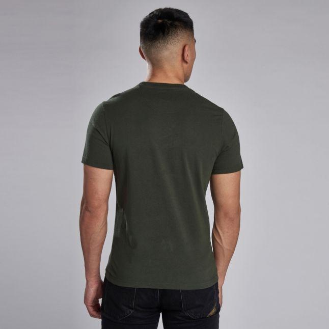 Mens Jungle Green Block Logo S/s T Shirt