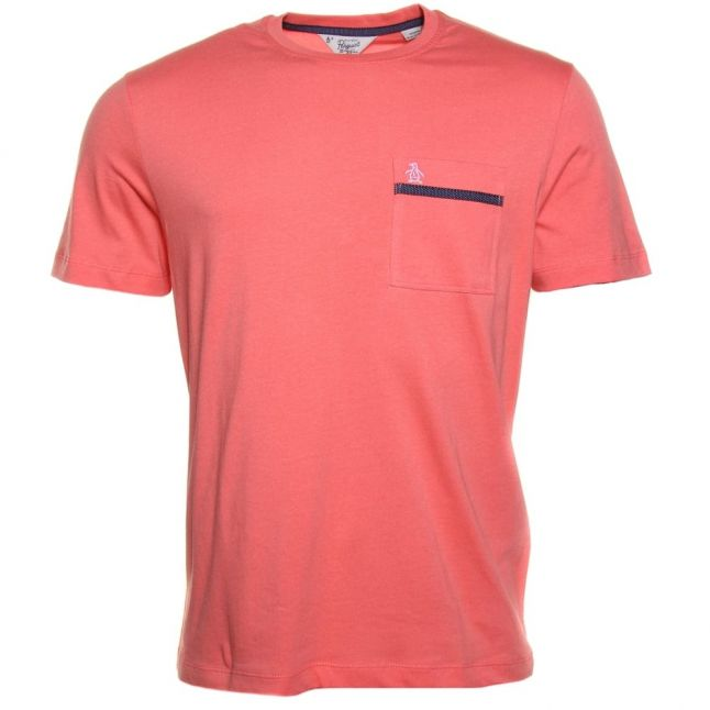 Mens Spiced Coral Tape Pocket S/s Tee Shirt