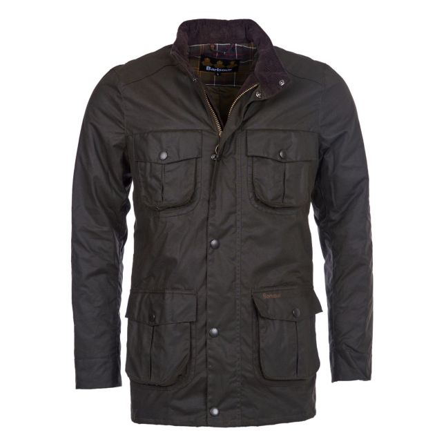 Mens Olive Corbridge Waxed Jacket