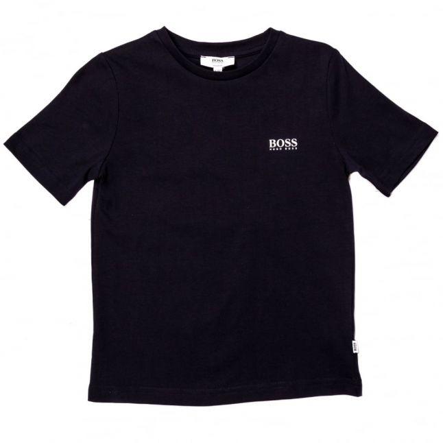 Boys Navy Small Logo S/s Tee Shirt