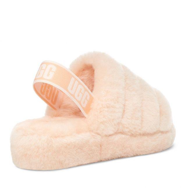 Womens Scallop Fluff Yeah Slide Slippers