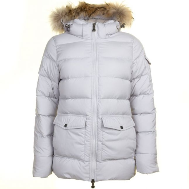 Womens Pearl Authentic Fur Hooded Smooth Jacket