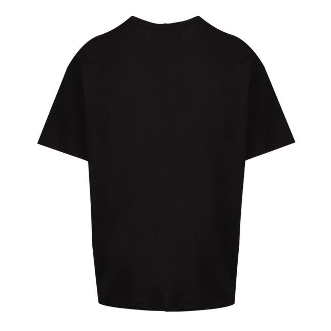 Mens Black Mix Logo Oversized Fit S/ T Shirt