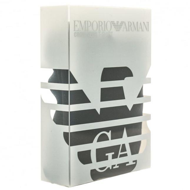 Mens Black Back Print Eagle Logo S/s Tee Shirt