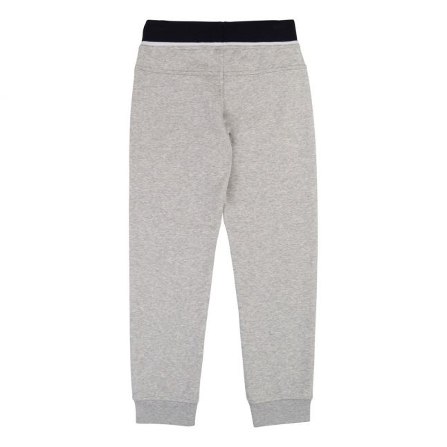 Boys Light Grey Marl Branded Sweat Pants