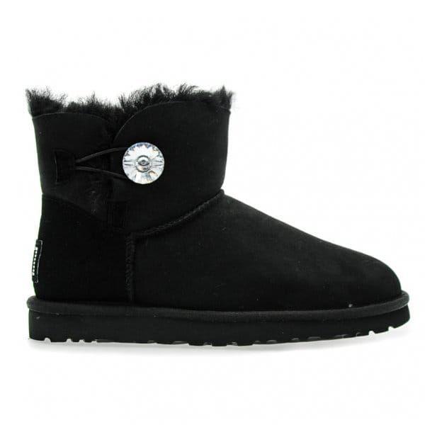 Australia Womens Black Mini Bailey Button Bling Boots