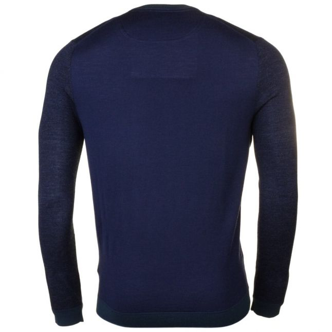 Mens Navy Cambell Crew Knitted Jumper