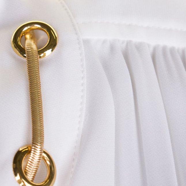 Womens White Chain Neck Blouse