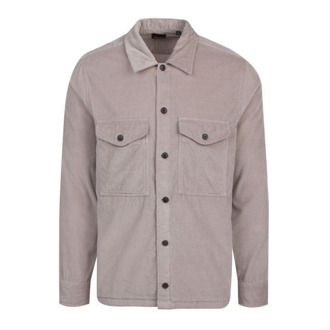 Casual Mens Natural Loflash Cord Overshirt