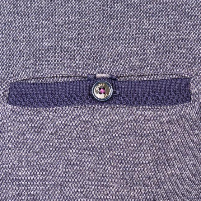 Mens Charcoal Ronaldo Oxford L/s Polo Shirt