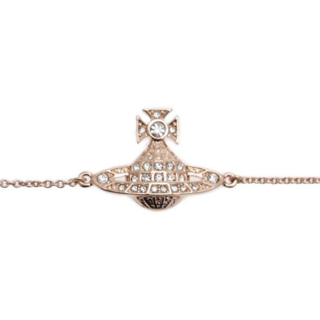 Womens Rose Gold Minnie Bas Relief Bracelet