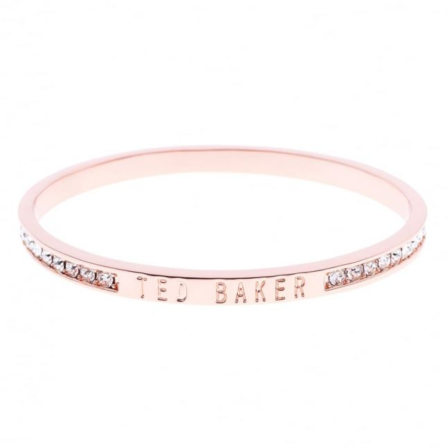 Womens Rose Gold & Clear Clem Crystal Bangle