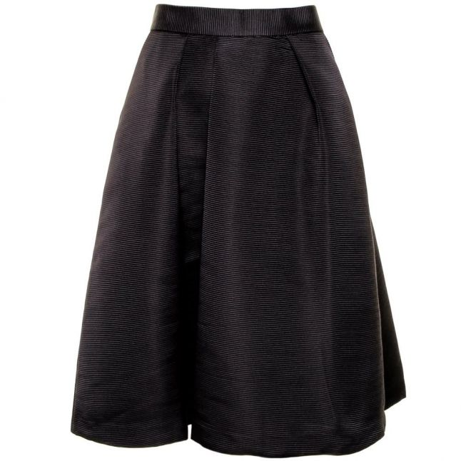 Womens Black Zelida High Waisted Midi Skirt