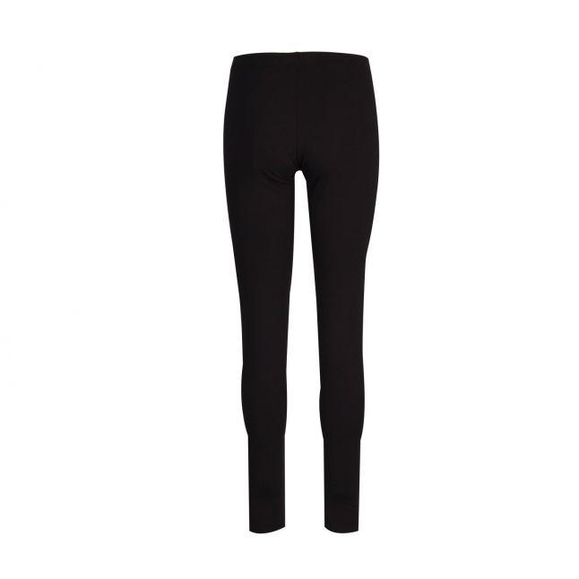 Womens Black/Rose Gold Branded Leggings