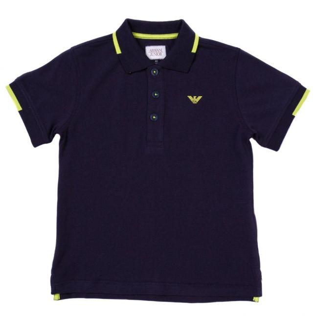 Boys Navy Small Logo S/s Polo Shirt