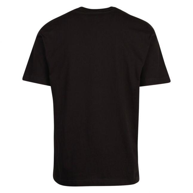Mens Black Raised Foil Logo Regular Fit S/s T Shirt