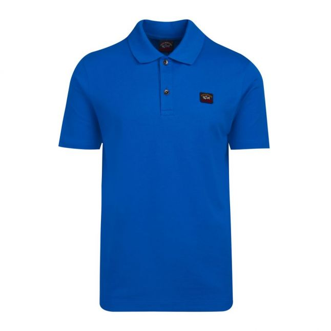 Mens Cobalt Blue Classic Logo Custom Fit S/s Polo Shirt