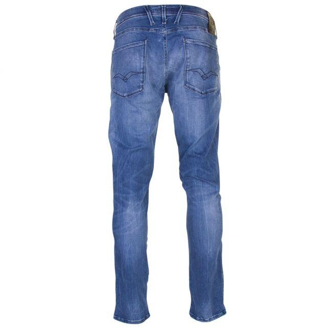 Mens Blue Wash Anbass Hyperflex Slim Fit Jeans